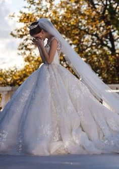 White and Gold Wedding. Sweetheart Corset Ballgown Dress. nice moment ,She is crying,love this wedding dresses wedding dress #weddingdress