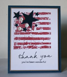 The sentiments stamps are from Waltzingmouse Stamps Join Us The flag is Stampers Best : Grunge Stars & Stripes