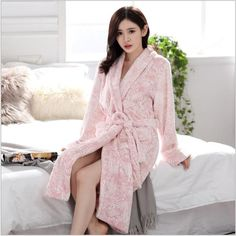 Couple Bathrobe Winter Flannel Thicken Warm Sleepwear Robe Dressing Gowns For Women Lingerie Robe Longue Femme Couple Pajamas, Bath Robes For Women, Night Gown, Sexy Men, Dressing, Gowns, Couples, Long Sleeve, Winter
