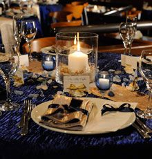 I love the blues and the candles in this one
