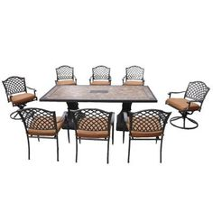 Shelbyville 9-Piece Patio Dining Set
