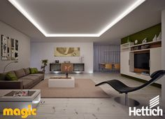 Living with light. Unwind with customised LED lighting by Magic Lighting available from Hettich. See our website for more inspiration & information! Led Light Design, Lighting Design, Palette, Aesthetic Value, New Living Room, Living Room Lighting, Corner Desk, Inspiration, Furniture