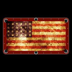 American Flag Billiard Cloth 8ft Pool Table Felt Unique Textile Printing  Http://www