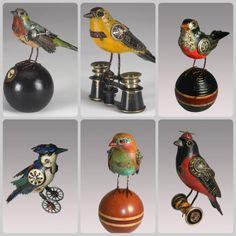 6 mechanical birds