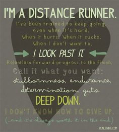 I'm running my first half marathon this year....hopefully I can live up to this :)