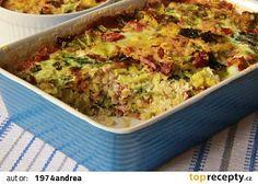 Kapusta zapečená s uzeným a bulgurem recept - TopRecepty.cz Smoked Ham, Cabbage Recipes, Guacamole, Quiche, Macaroni And Cheese, Food And Drink, Baking, Vegetables, Breakfast