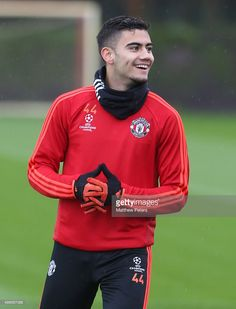 Andreas Pereira of Manchester United in action during a first team training session at Aon Training Complex on November 2015 in Manchester, England. Manchester England, Manchester United, Figure Skating Olympics, One Team, Lionel Messi, November, Action, The Unit, Training