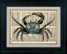 Blue Crab - LOVE this idea!