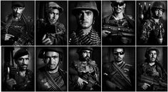 This combination photograph shows portraits of Afghan National Army soldiers Troops, Soldiers, Army Soldier, United States Army, Insurgent, Afghanistan, The Past, War, July 11