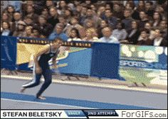 Gif! Look closely at the beat board  Then look at the coach when the guy smashes into the table the coach doesn't even move
