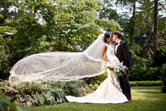Wow! We may have a new favorite veil shot! Via Style Me Pretty ~ Georgia / Photography by bamberphotography.net / Floral Design by http://facebook.com/pages/Social-Graces-Floral-Design/149630148389089