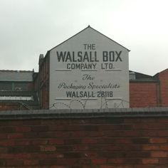 Awesome painted typography on the side of a factory in Walsall. Great colours too. Box Company, Walsall, My Roots, West Midlands, The Good Old Days, Old Town, Ale, Typography, Colours