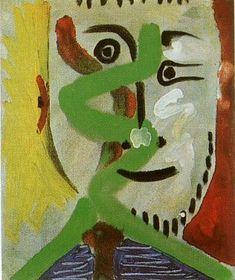 "Pablo Picasso - ""Man Head IV"", 1964"