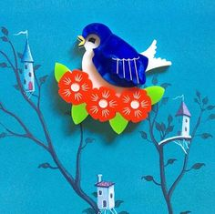 Blue Bird, Dinosaur Stuffed Animal, Disney Characters, Fictional Characters, Vintage Jewelry, Bloom, Christmas Ornaments, Toys, Holiday Decor