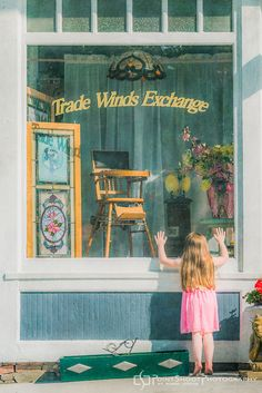 """Norman Rockwell inspired portrait, 'Window Shopping"""" Creative portrait photography"""