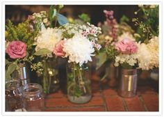 flowers in cans and jars by hollie