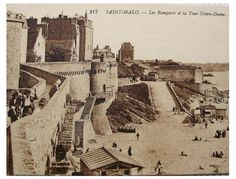 Unused French Vintage Postcard  Saint Malo Brittany by ChicEtChoc, $5.50