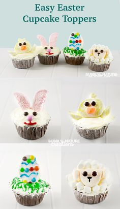 4 Video Tutorials for Easy Easter Dessert Ideas! So fun! Easy Easter Desserts, Easter Appetizers, Easter Treats, Easter Recipes, Easter Food, Yummy Recipes, Yummy Food, Lamb Cupcakes, Easter