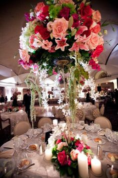 A variety of flowers in different colors can make beautiful centerpieces, blend carefully~Crest Florist http://buff.ly/1gcJkf1