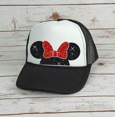 Disney Trucker Hat Minnie Mouse Bow // by BellaDesignsStl on Etsy