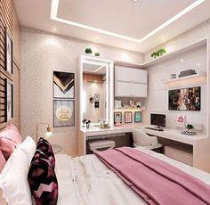 cuarto pequeño bien distribuido con todo.lo necesario para trabajar y descansar http://hubz.info/113/stunning-wedding-nail-art-desgins