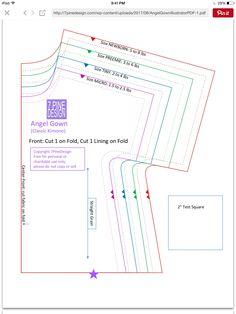 Angel Gown Update: Using Clear Patterns 7 Pine Design - Diy Crafts - hadido Baby Girl Dress Patterns, Baby Clothes Patterns, Dress Sewing Patterns, Sewing Patterns Free, Baby Patterns, Clothing Patterns, Couture Bb, Underwear Pattern, Angel Gowns