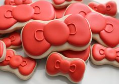 Hello Kitty Bow Cookies tutorial