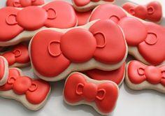 Hello Kitty Bow Cookies