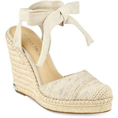 4da10ace09db5 Ivanka Trump Winikka Espadrille Wedge Sandals ( 140) ❤ liked on Polyvore  featuring shoes