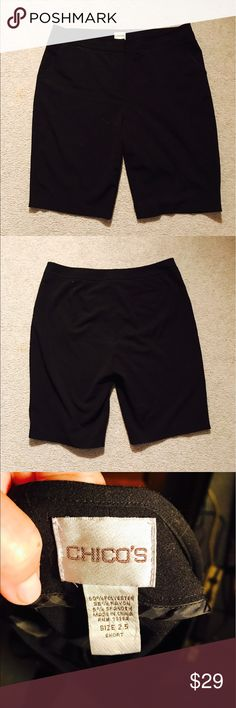 Women's Chico's Black Bermuda Shorts, size 2.5 Women's Chico's Black Bermuda Shorts, size 2.5, equivalent to size 12-14. Perfect Condition. 2side pockets. Beautiful, paid full price😄 Chico's Shorts Bermudas