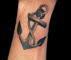 Done By paulo da butcher   Black n grey anchor