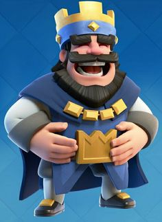 The royale king laugh #clashroyale