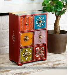 Rajasthani wooden jwelery cabinet