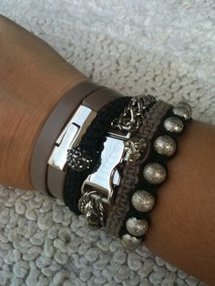 Grey Bracelets