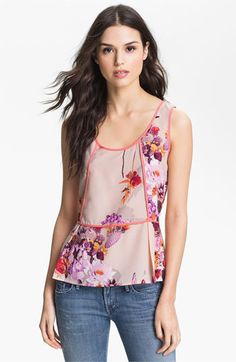 Collective Concepts Floral Peplum Tank available at #Nordstrom # Flower Shop