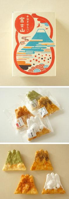 煎屋 手焼きせんべい 富士山: Sen-ya Fuji Mountain Homemade Senbei (crackers)