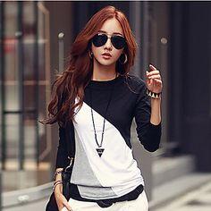 nova+camisa+coreano+manga+longa+slim+assentamento+t-shirt+assentamento+das+falari+mulheres+–+EUR+€+12.73