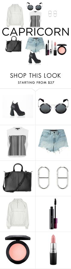 """capricorn with wang"" by esposito-alicya on Polyvore featuring Robert Wun, Yohji Yamamoto, Alexander Wang, T By Alexander Wang, MAC Cosmetics, fashionhoroscope and stylehoroscope"