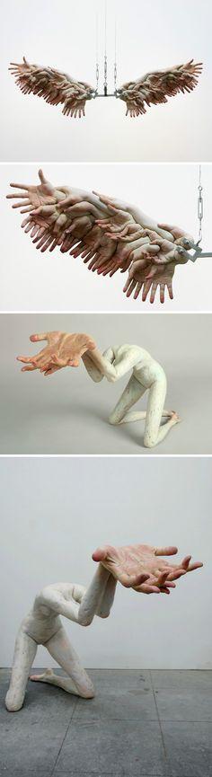 Creative hand sculptures Hand Sculpture, Pottery Sculpture, Abstract Sculpture, Deer Design, Design Art, Creepy Hand, Art Haus, Organic Art, T Art