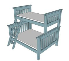 twin over full bunkbed plans