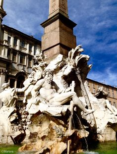Fountain of the Four Rivers,Piazza Navona,Rome,Lazio,Italy