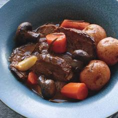 Italian Pot Roast with Potatoes & Carrots (slow cooker)