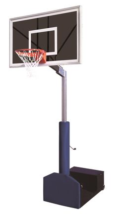 First Team Rampage Eclipse Adjustable Portable Basketball Hoop 60 inch Smoked Glass from NJ Swingsets