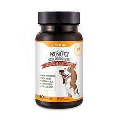 DhohOo® Probiotics. Number of Tablets: 60 tablets. Net Weight: 120g. With premium ingredients that support digestive health. Bifidobacterium Lactis, Lactobacillus Acidophilus & Enterococcus Faecium, BetaGlucans, Fructo-Oligosaccharides & Mannan-Oligosaccharides, Ginger Root Extract. Hip Arthritis, Green Lipped Mussel, Natural Pet Food, Lactobacillus Acidophilus, Pet Supplements, Organic Turmeric, Good Healthy Recipes, Pet Grooming, Pet Health