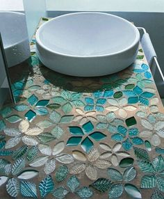 Flower Glass Tiles - Naturae Collection Tiles by Vetrovivo