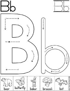 Alphabet Letter B Worksheet | Preschool Printable Activity | Standard Block Font