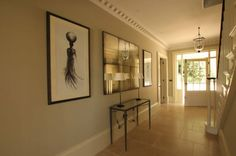 Elegant hallway, beautiful staircase, mix of contemporary within period house