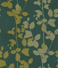 Beechwood (1903/618) - Prestigious Wallpapers - A coppice of beech branches in olive green and pale gold on a brown/black background. Please ask if you want information on the other colours. Please ask for a sample for true colour match.