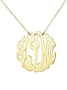 Medium monogram necklace-Jennifer Miller Jewelry