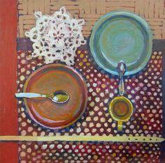 malarstwo olejne martwa natura kuchnia Katarzyna Urbaniak compositions of porcelain still life paint plates kitchen
